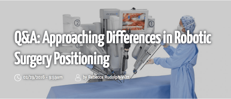 Approachiing Differences in Robotic Surgery Positioning